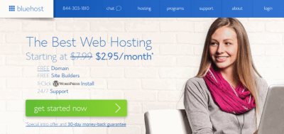 Bluehost review $ 3.95/month